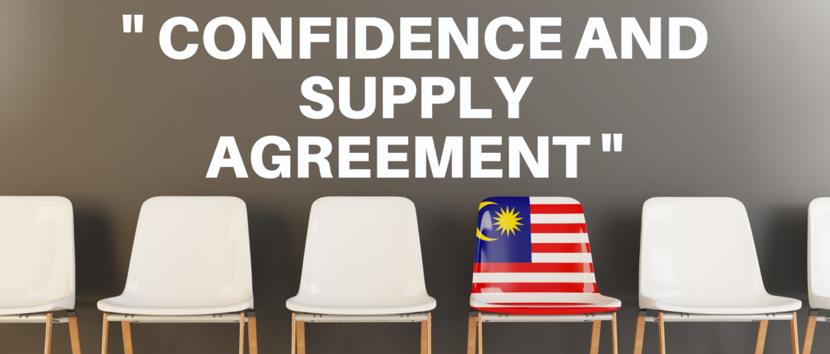 "What is the ""Confidence and Supply Agreement"""