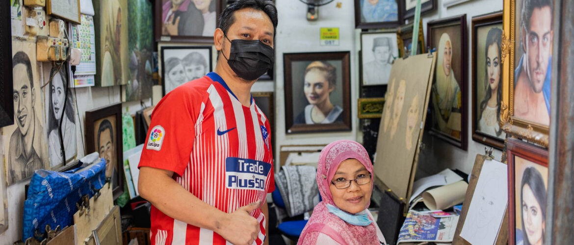 Stories from the Ground – Mohd Hairul, 47, Artist in Central Market