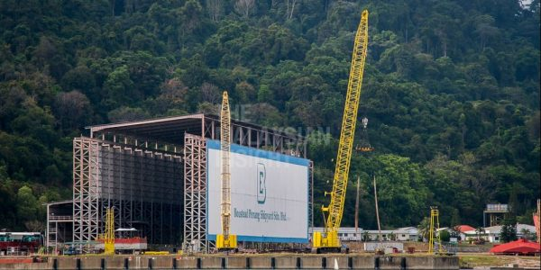 A view of the Boustead Penang Shipyard hanger at Pulau Jerejak in Penang. Analysts say more investment in producing skilled industrial workers is required. – The Malaysian Insight file pic, August 6, 2020.